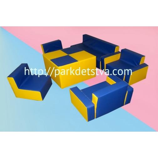 Мягкая набивная мебель Набор Мягкий уголок-6830512