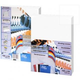 Обложка прозрачная глянцевая ProfiOffice, А4, 0,15 мм.-399034