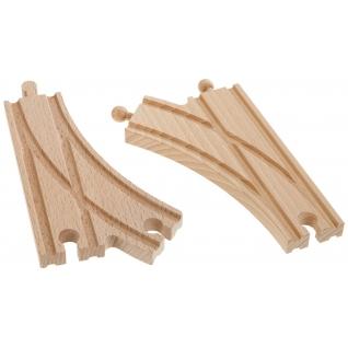 Набор из 2 раздваивающихся полотен для деревянной ж/д, 14.5 см Eichhorn-37709540