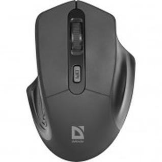 Мышь компьютерная Defender Datum MB-345, 4 кн., 800-1600 dpi, черная