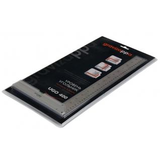 Угольник-уровень GRAVIZAPPA UGO400 306-010 200х400мм алюминиевый литой, 1 ...-1209980