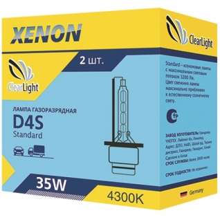Лампа ксеноновая Clearlight D4S 4300K LCL D4S 143-0LL ClearLight-9066121