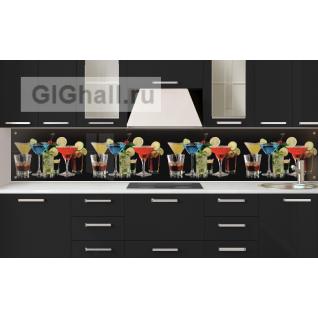Стеклянный фартук для кухни НАПИТКИ-5901399