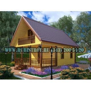 Дачный дом по проекту СТТ-41из обрезного бруса сечением 150 х 150 мм., площадь 89,0 кв.м., размер 6,0 х 9,0 м.-465206