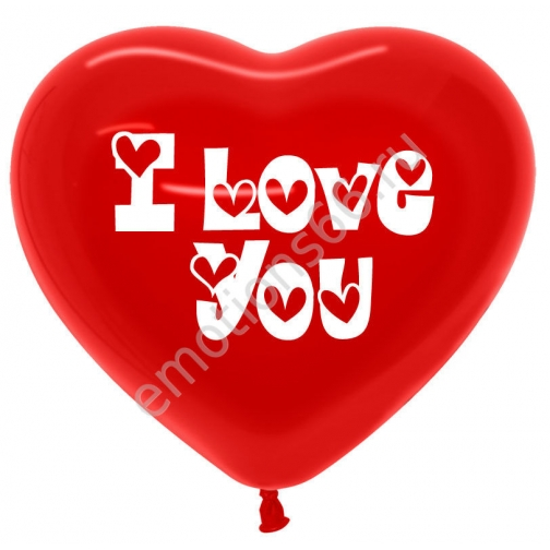 Сердце Красное с надписью I Love you-873581