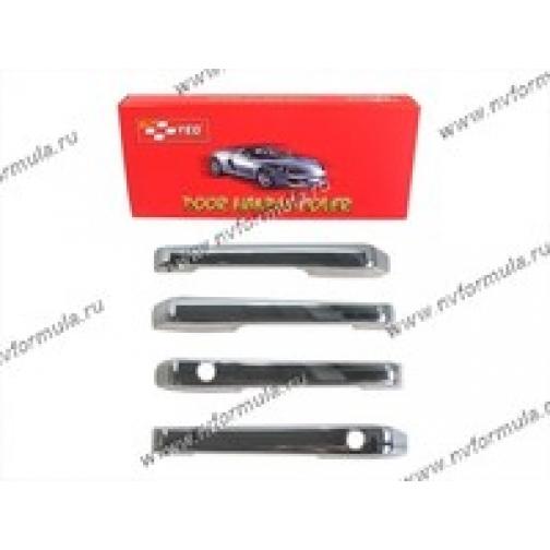 Накладки для дверных ручек 2109-099 пластик хром-431647