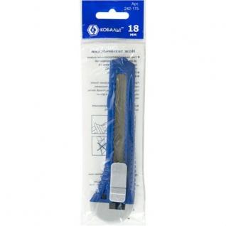 Нож технический пластиковый корпус, лезвие 18 мм, КОБАЛЬТ-5858305