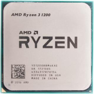 Процессор AMD Ryzen 3 1200 BOX <65W, 4C/4T, 3.4Gh(Max) (YD1200BBAEBOX)