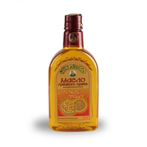 Масло грецкого ореха «Золотой орешек», 0.50 л, ПЭТ-822590