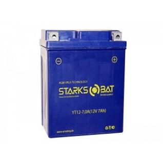 Аккумулятор для мототехники STARKSBAT STARKSBAT YT 12-7,0A 115А обратная полярность 7 А/ч (114x71x131)-5789171