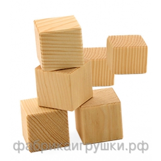 Деревянные кубики 6 шт (неокрашенные)-1972904
