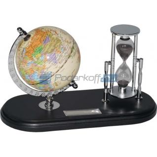 """Набор с глобусом на черной подставке """"Время и мы""""-763081"""