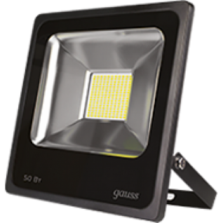 Gauss Прожектор светодиодный Gauss LED 50W IP65 6500К черный 1/6