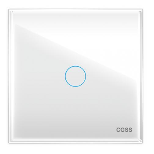 Однолинейная панель стеклянная белая cgss wt-p01w-5998643