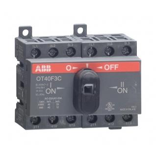 Выключатель-разъединитель реверсивный ABB OT40 F3C 3Р 40А с ручкой управления(А АС)-37132400