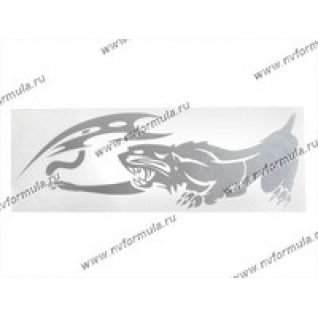 Наклейка Стикер на боковое стекло Пантера серебро 41х41-430742