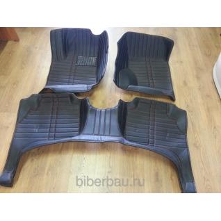 Кожаные автоковрики Volkswagen Touareg чёрный 2010-2014-907304