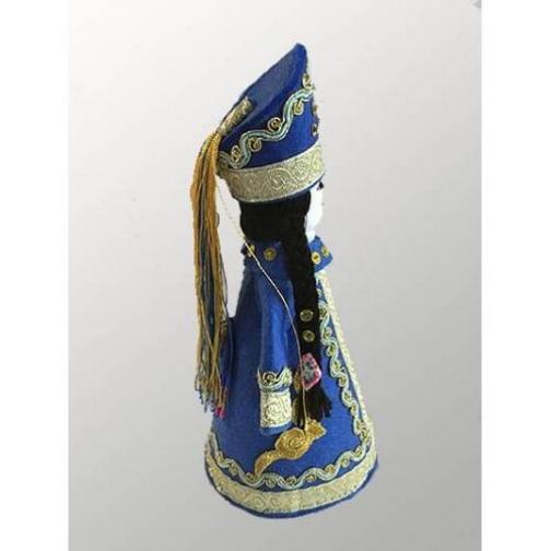 Национальная кукла в синем костюме-6926787