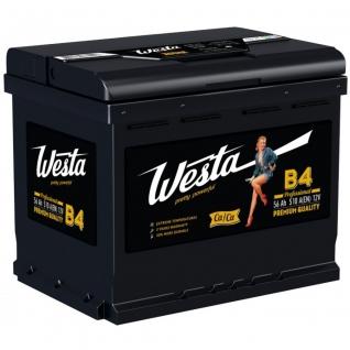 Аккумулятор WESTA 6ст-56 Аз 56 а/ч прямая полярность WESTA B4-5601906