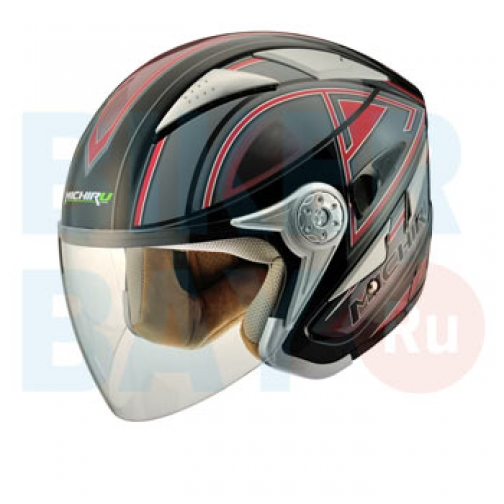 Шлем (открытый) MO 126 Stroke Red (Размер S) MICHIRU-2154700