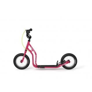 """Детский самокат Yedoo Mau New (розовый) с ручными тормозами и колесами 12""""-37649471"""