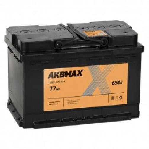 Автомобильный аккумулятор AKBMAX AKBMAX 77R 650А обратная полярность 77 А/ч (276x175x190)-6663934