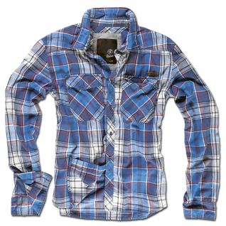 Brandit Рубашка Brandit в клетку, цвет синий-5020804