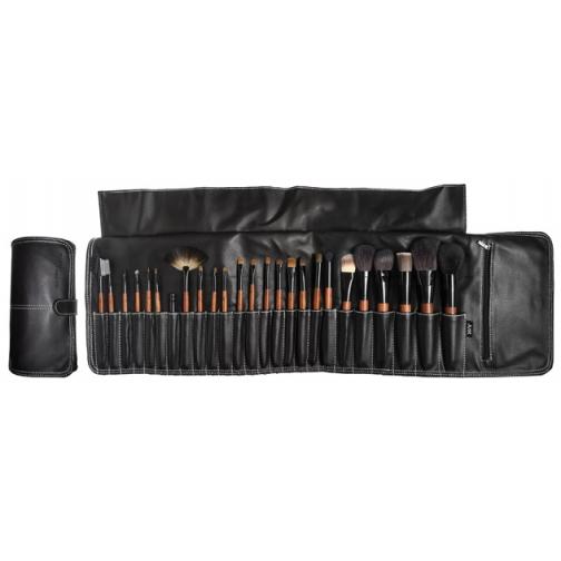 Профессиональные кисти для макияжа - Набор JEANS на 25 кистей для макияжа в черном кофре на клипсе-2148228