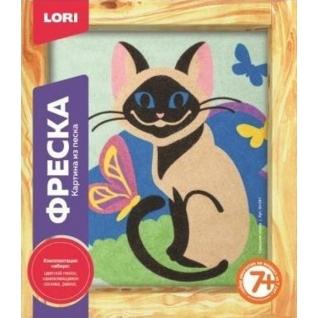 """Фреска из песка """"Сиамская кошка"""" LORI-37713588"""