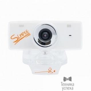 Cbr Веб-камера Simple S3 White, универс. крепление, 5 линз, 1,3 Мп, микрофон, эффекты, S3 White