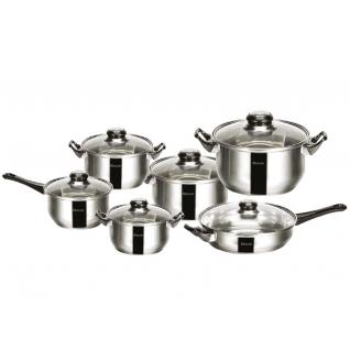 Набор посуды из нержавеющей стали Mercury, 12 предметов-37774497