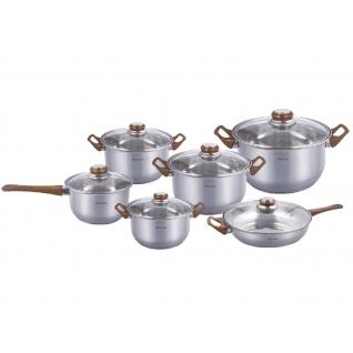 Набор посуды из нержавеющей стали Mercury, 12 предметов-37774843