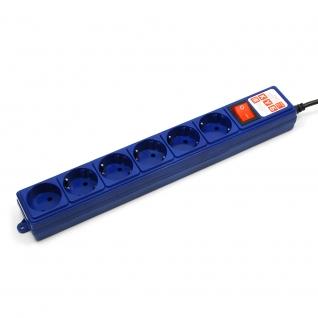 Фильтр-удлинитель Power Cube 3,0 м 6 розеток (синий) 10А/2,2кВт-6439799