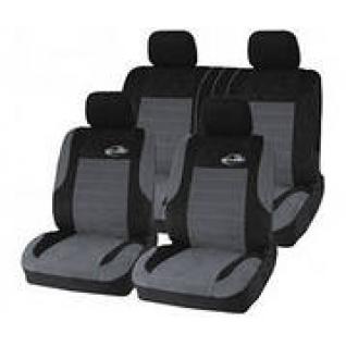 Nissan Tiida / Ниссан Тиида седан 2006- Чехлы универсальные на сиденья автомобиля AUTOPROFI Evolution (черно/темно-серые)-434259