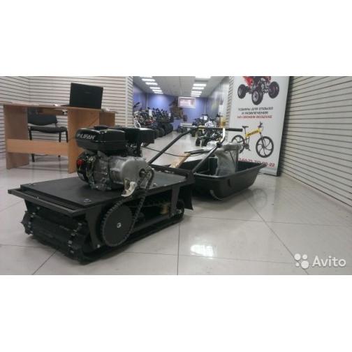 Мотобуксировщик Снежок Р500+сани+сиденье-1025655