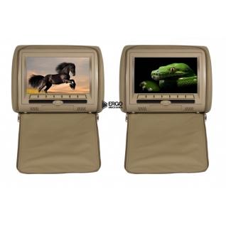 Комплект автомобильных DVD подголовников ERGO ER900HD (бежевый) Ergo-8945655