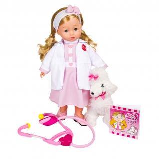 Кукла Bambolina - Доктор Молли с собачкой (звук, свет), 40 см Dimian-37709162