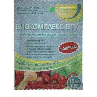 БИОКОМПЛЕКС-БТУ  микробиологическое удобрение 15 мл.