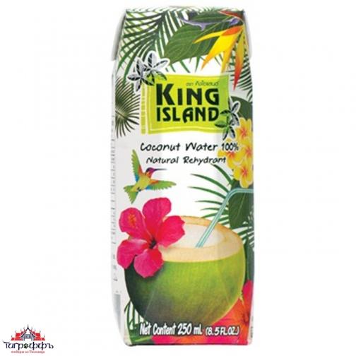 Кокосовая вода без сахара King Island 250 мл.-945250