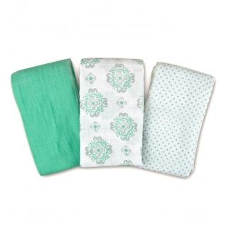 Пеленки Summer Infant Набор пеленок 3 шт. Ornate Geo (салатовая/белые с орнаментом)