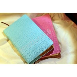 Ежедневник бирюзовый и розовый крокодил-873757