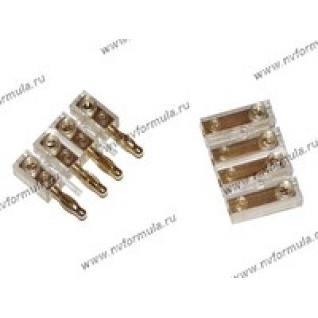 АУДИО Разъем для акустического кабеля на 2 колонки MYSTERY длинный MTY-8-9060804