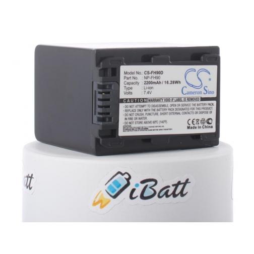 Аккумуляторная батарея iBatt для фотокамеры Sony DCR-SR75E. Артикул iB-F285 iBatt-6803924