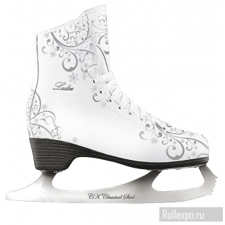Фигурные коньки СК (Спортивная коллекция) Ladies Lux Corso 50/50% Leather Silver (подростковые)
