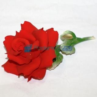 """Роза из фарфора """"Прикосновение нежности"""", малая-762427"""