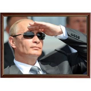 Портрет Президента Владимира Путина - 07 в рамке и со стеклом 30х40-6102909