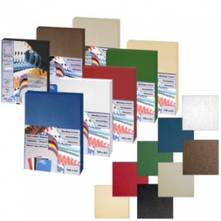 Обложки картон-кожа ProfiOffice, А4, синий-399019