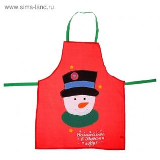 Новогодний фартук Снеговик-6722022