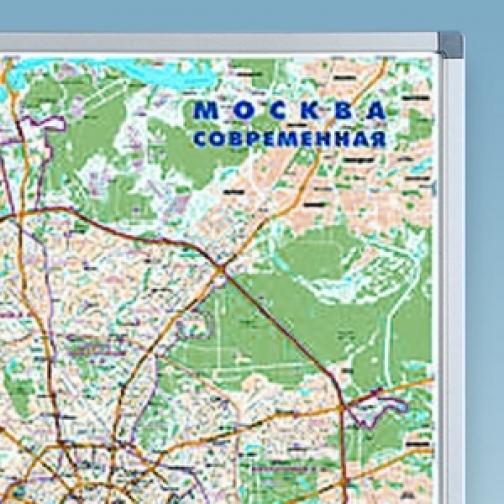 Карта Москвы, 120 х 80 см. вертикальная-7008598