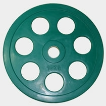 "Олимпийский диск евро-классик с хватом ""Ромашка"", 10 кг. (0)"